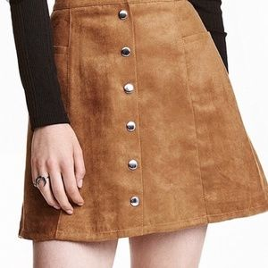 H&M Faux Suede Mini Skirt